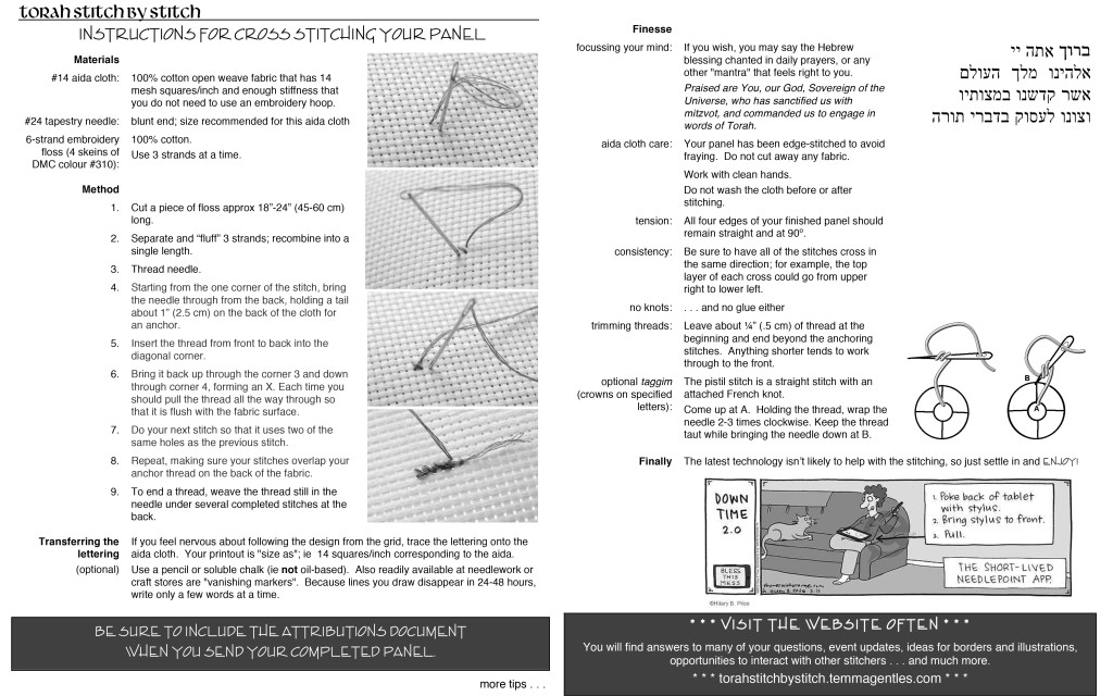 Microsoft Word - instructions for cross stitching revised again.