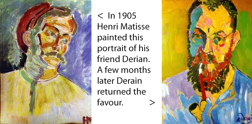 Derain and Matisse portraits