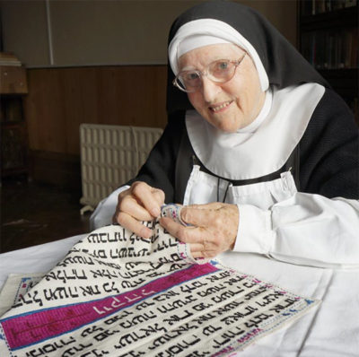 Mother Xavier stitching